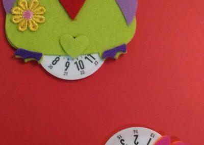 Disco orario gufetto e gallo