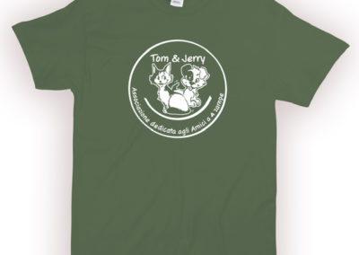 T-SHIRT uomo verde militare